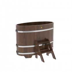 Oval tub from a larch...